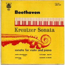Walter Schneiderhan &amp; Erich Berg – <cite>Beethoven's Kreutzer Sonata</cite> album art