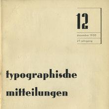 """<cite>Typographische Mitteilungen</cite>, Vol.<span class=""""nbsp"""">&nbsp;</span>27, No.<span class=""""nbsp"""">&nbsp;</span>12, December 1930"""