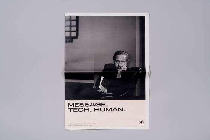 Message. Tech. Human posters.