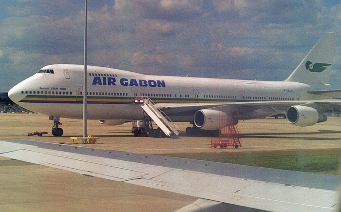 F-ODJG Boeing 747-2Q2BM spotted at London-Gatwick, August 2000.