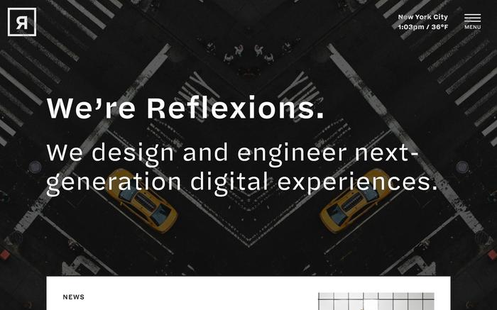 Reflexions website 1