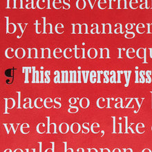 <cite>New York</cite> magazine 50th anniversary issue