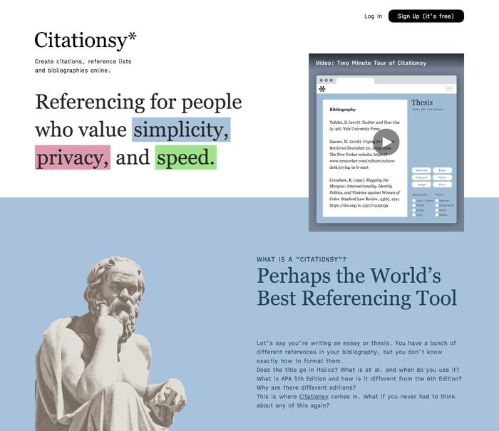 The Citationsy website