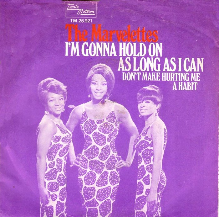 """I'm Gonna Hold On As Long As I Can"" / ""Don't Make Hurting Me A Habit"" – The Marvelettes (NL)"