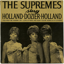 <cite>The Supremes ‎Sing Holland · Dozier · Holland </cite>album art