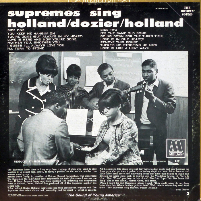 The Supremes ‎Sing Holland · Dozier · Holland 2