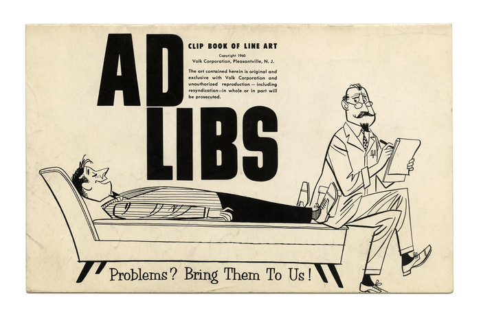 """""""Ad Libs"""" (No. 74) ft. Ginger, another, bold member of Filmotype's """"G series"""" of condensed Grotesques from the early 1950s. The casual serif at the bottom is Orlando. Both styles were made available in digital form in recent years. Ginger was digitized by Mark Simonson in 2008, and Orlando by Charles Gibbons in 2013."""