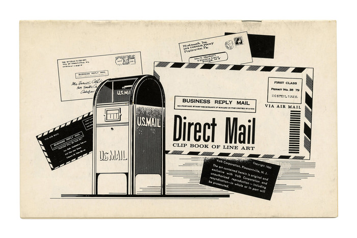 """""""Direct Mail"""" (No. 75) ft. more . This style was digitized by Patrick Griffin and Rebecca Alaccari in 2011, together with the oblique Filmotype Escort. Among the secondary typefaces are  and ."""