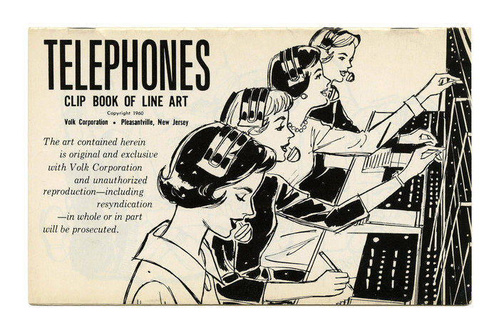 """Telephones"" (No. 301) has more . Note how the text in  Italic wraps around the line art."