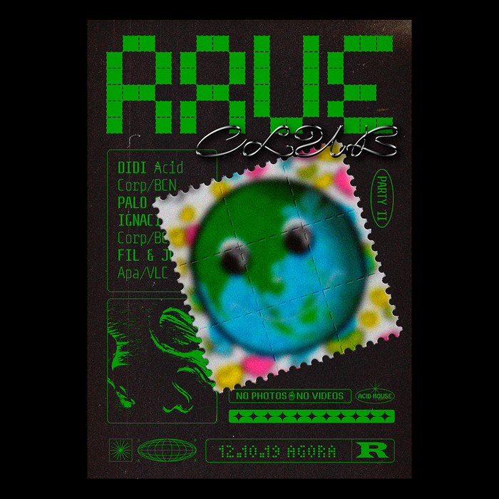 Rave Club poster series 6