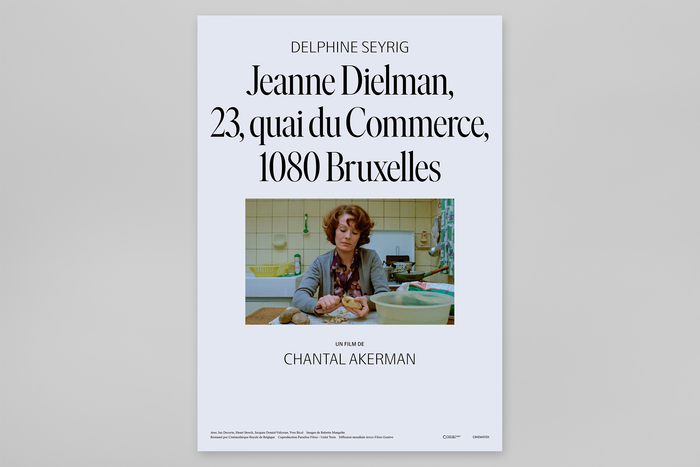 Jeanne Dielman, 23, Quai du Commerce, 1080 Bruxelles, Swedish movie posters 1