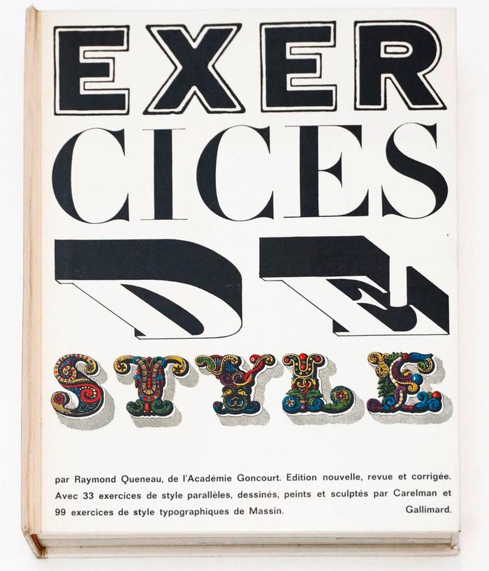 Exercices de style, Gallimard (1963) 1