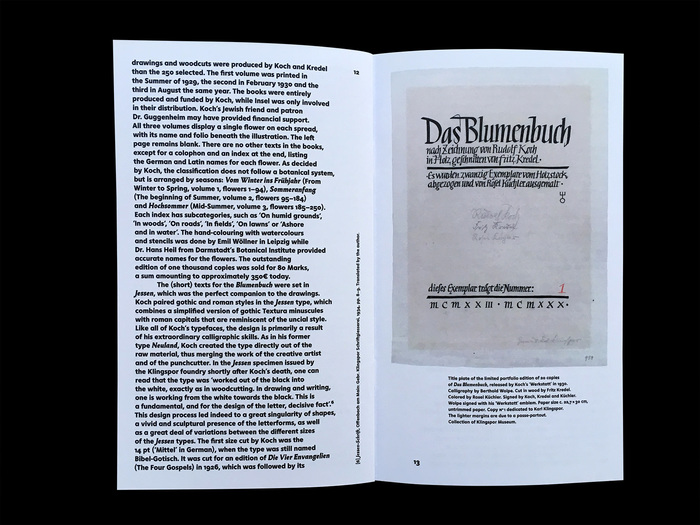 Title plate of the limited portfolio edition. Calligraphy by Berthold Wolpe. Cut in wood by Fritz Kredel.