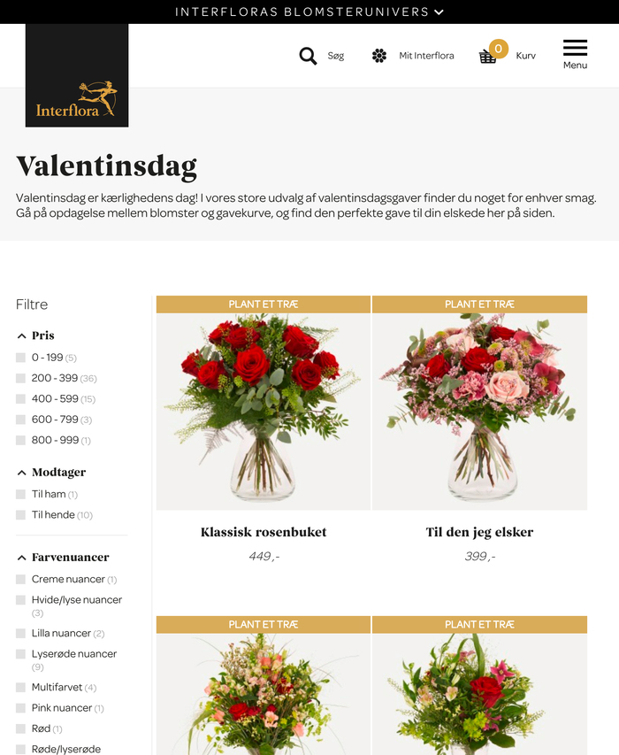 Special offers for Valentine's Day.