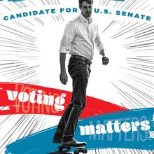 <cite>Cruz Can't Skate</cite> – Beto O'Rourke U.S. Senate campaign poster