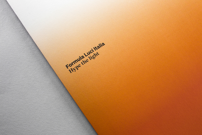 """Hype the light"" – Formula Luci Italia booklet 1"