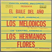 Los Melodicos &amp; Los Hermanos Flores – <cite>El Baile Del Año</cite> album art