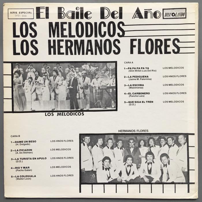 Los Melodicos & Los Hermanos Flores – El Baile Del Año album art 2