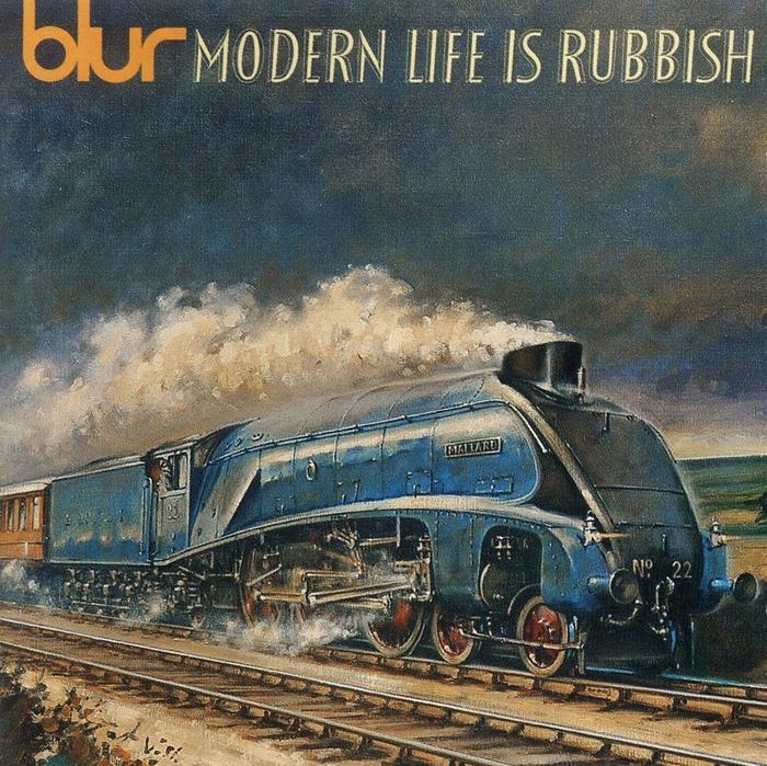Blur – Modern Life Is Rubbish album art 1