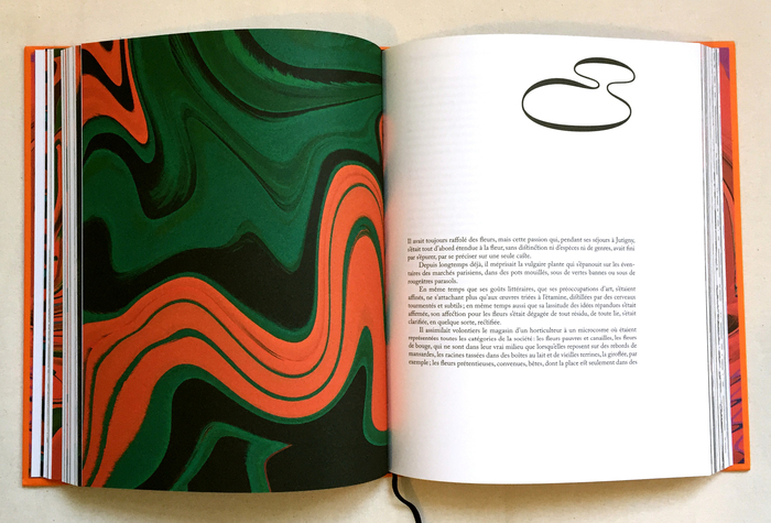 Each chapter opener features an original and colorful pattern. The chapter number is set in Nostra Stream.