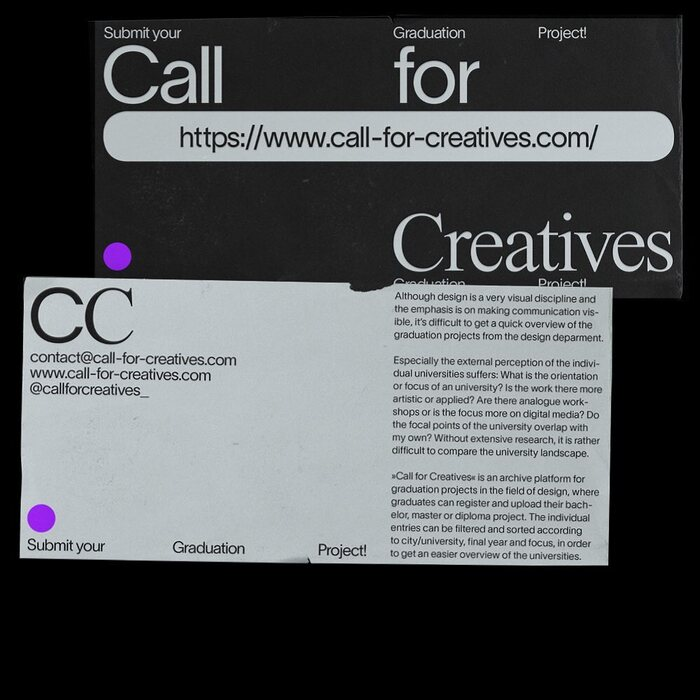 Call for Creatives 3