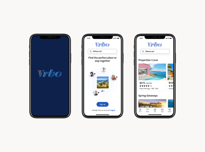 Mobile views of the website.