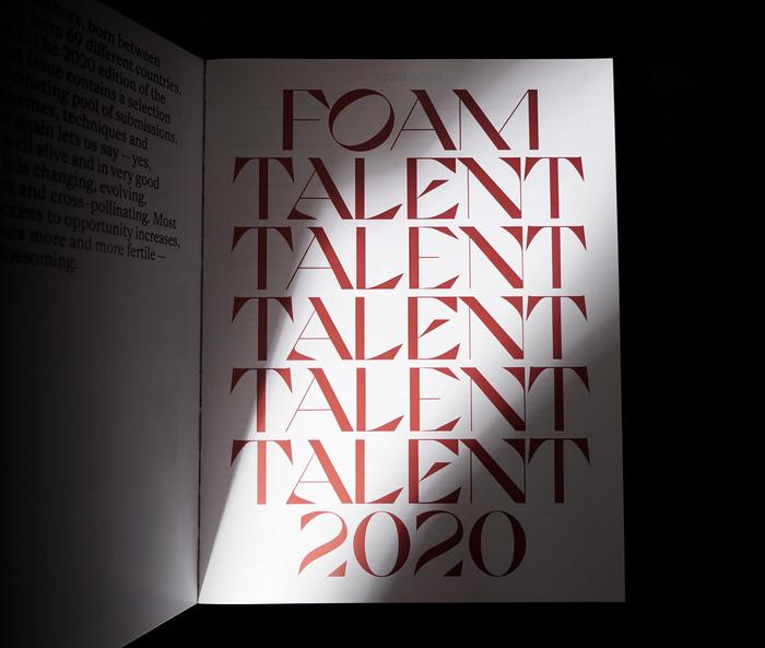 """Foam magazine #55, """"Talent"""" 5"""