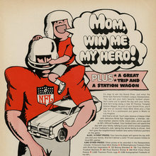 """Mom, win me my hero!"" ad by Birds Eye (1966)"