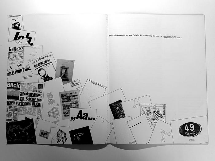 Der Schülerverlag an der Schule für Gestaltung in Luzern … und warum es ihn gibt. Ein Bericht von Hans-Rudolf Lutz 2