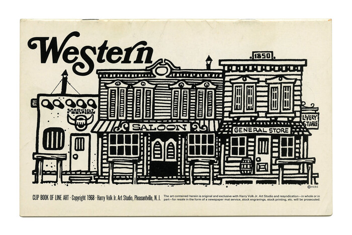"""Western"" (No. 485) ft.  Italic with swashes."