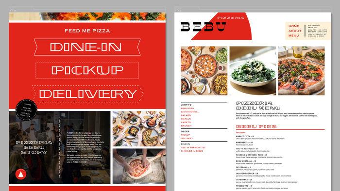 Pizzeria Bebu identity 5