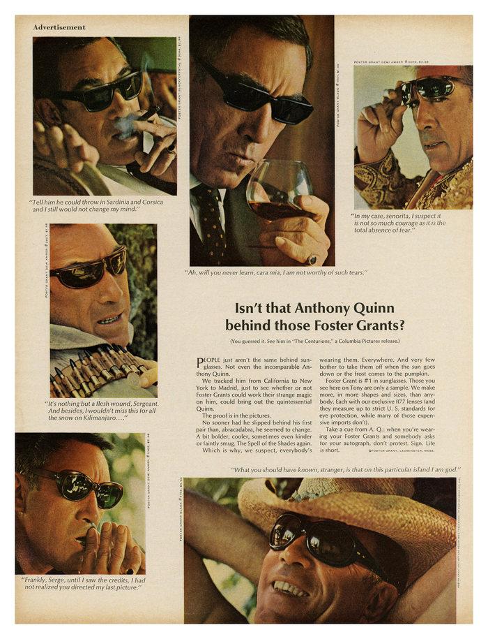 Foster Grant sunglasses ad (1966)