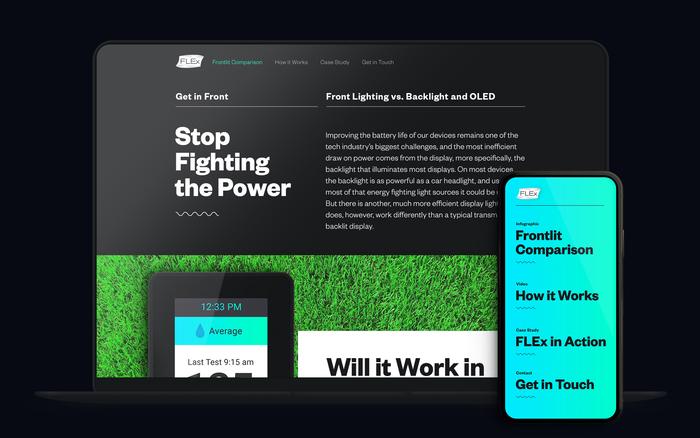 FLEx Lighting website 1