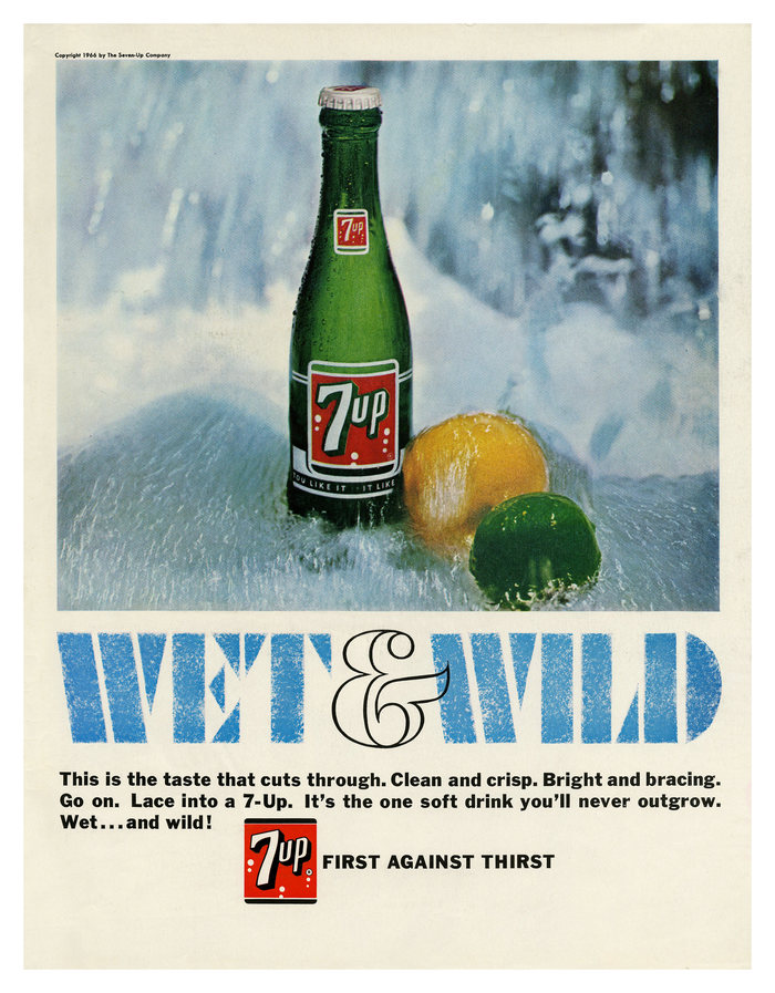 """""""Wet & Wild"""" ads for Seven-Up 7"""