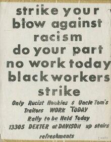 Dodge Revolutionary Union Movement (DRUM) graphics