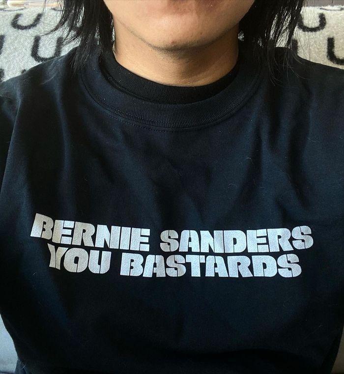 """""""Bernie Sanders You Bastards"""" longsleeve 1"""