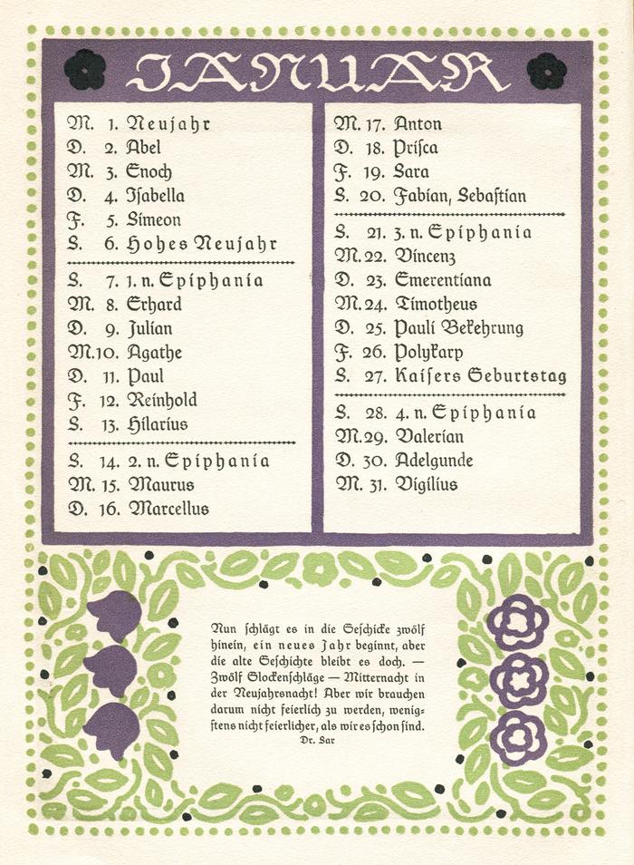 Wilhelm Raabe Kalender 1912 2