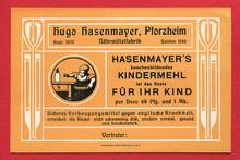 Hasenmayer's knochenbildendes Kindermehl ad