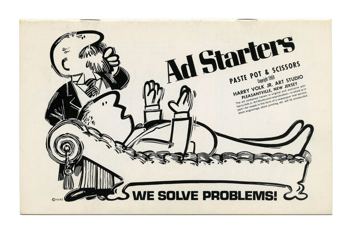"""""""Ad Starters"""" from the Paste Pot & Scissors series (No. PP117), featuring  and a regular width of . The small print here includes , , and ."""