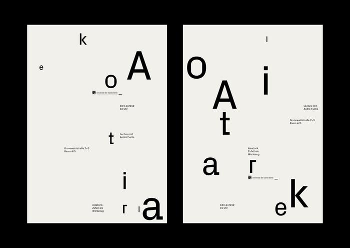 """""""Aleatorik. Zufall als Werkzeug"""" lecture poster 3"""