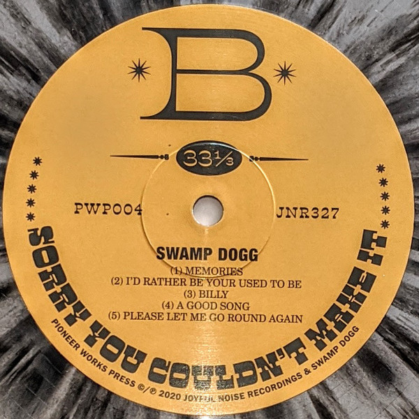 Swamp Dogg – Sorry You Couldn't Make It album art 3