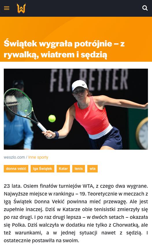 Weszło sports news website 4