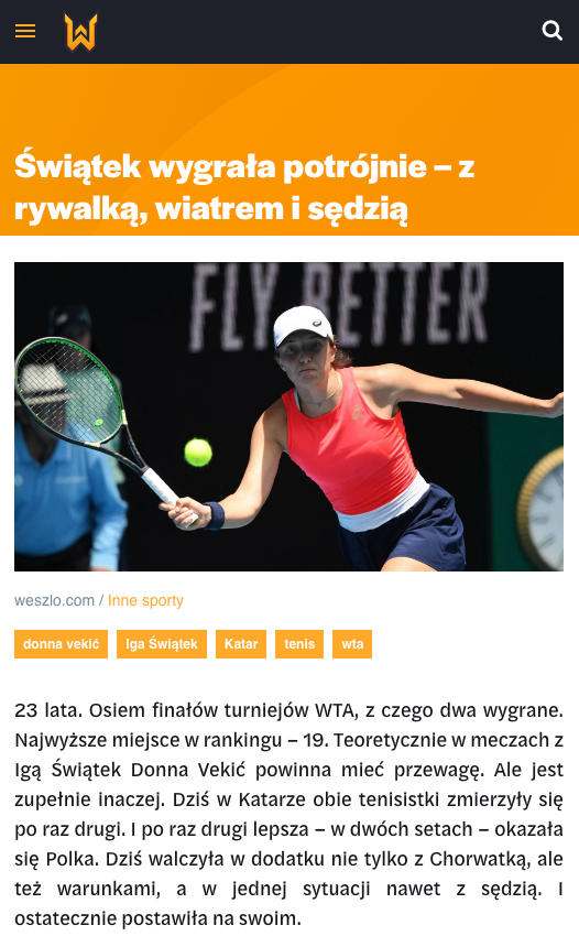 Weszło sports news website 4