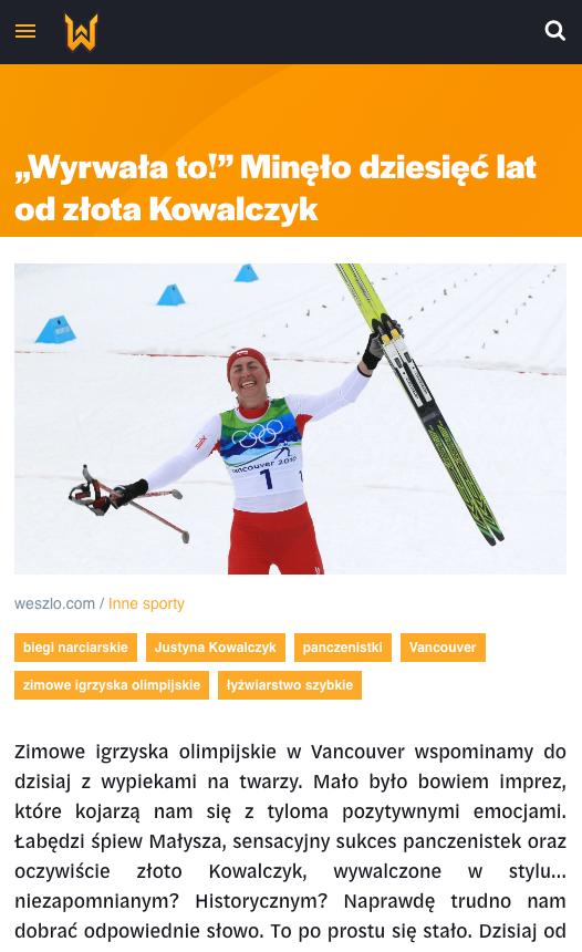 Weszło sports news website 5