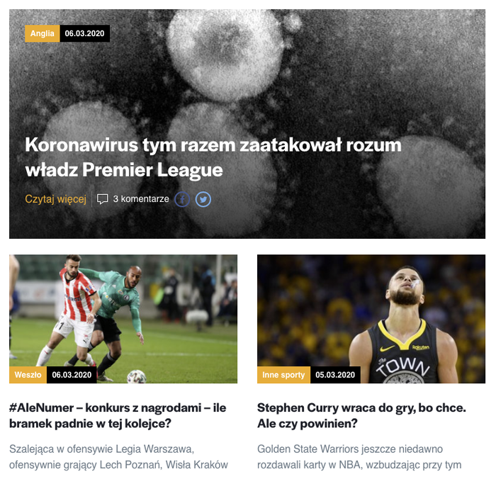 Weszło sports news website 8