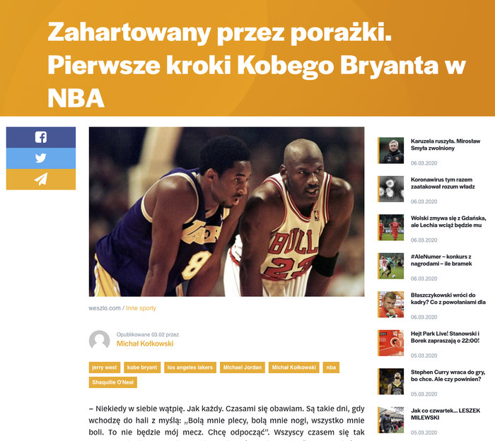 Weszło sports news website 10