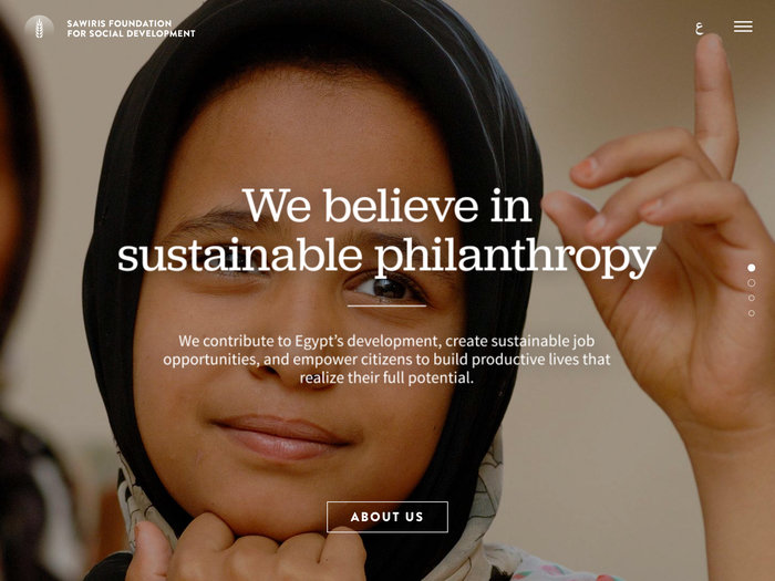 Sawiris Foundation website 1