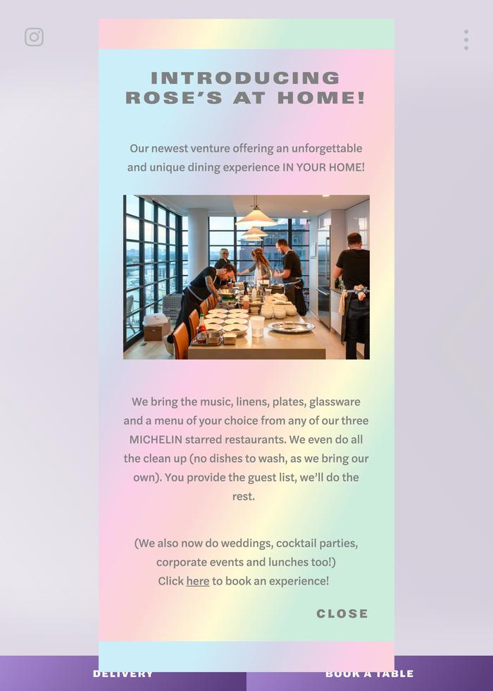Little Pearl Restaurant website 2