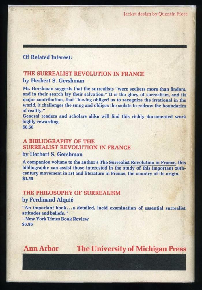 Manifestoes of Surrealism by André Breton, first English edition 3