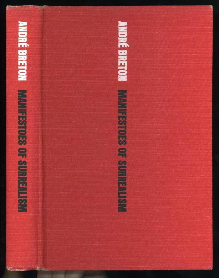 Manifestoes of Surrealism by André Breton, first English edition 4